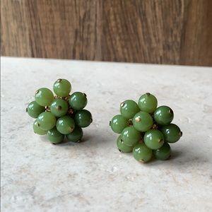 Vintage Bead Cluster Earrings